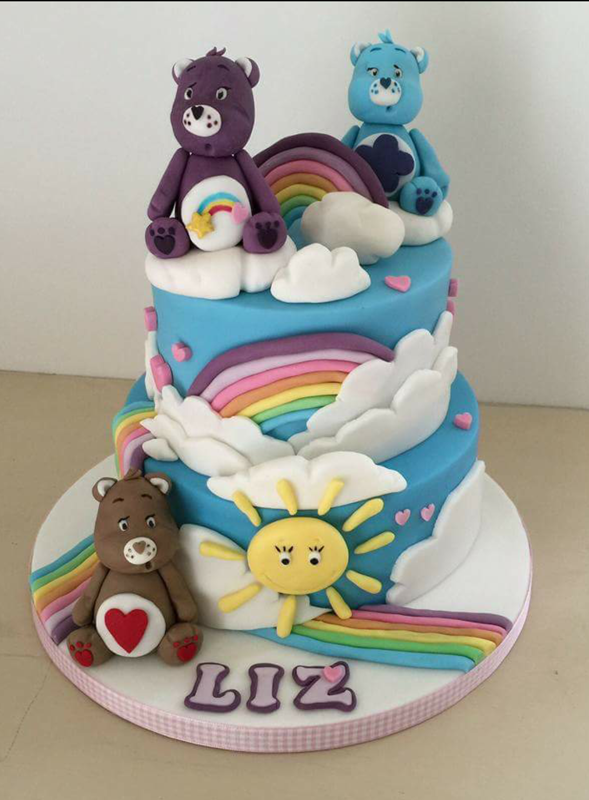 Hannahs Cornish Cakes Birthday Cake Care Bears Rainbow Hannahs